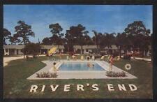 Postcard NEW PORT RICHEY Florida/FL River's End Tourist Motel Motor Court 1940's