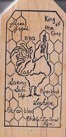 "farm yard stamp studio Wood Mounted Rubber Stamp  2 1/2 x 5""  Free Shipping"