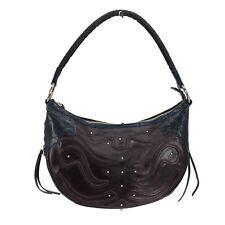 Ariat Leather Western Shoulder Bag Purse Handbag Hobo Blue Burgundy Brown