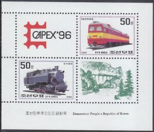 Korea (N) - 1996 - MNH - (MS 3838-3839) Train