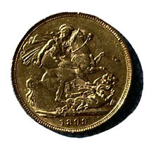 More details for rare gold sovereign 1899 coin featuring queen victoria
