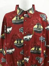 Clearwater Outfitters Long Sleeve Shirt Muscle Cars Camaro XXL Button Front