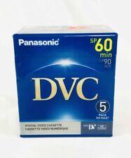 Panasonic DVC Mini DV Digital Video Cassette, SP 60min, LP 90min - 5 pack