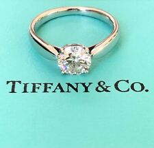 Tiffany & Co. 0.90ct I/VS1 Harmony Diamond Solitaire Engagement Ring Cert/Val