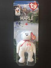 Ty Maple The Bear New In Box McDonalds Beanie Baby Canada 1996 Birthday Plush