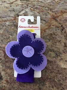 BRAND NEW Hanna Andersson Purple Flower Headband- Quick Ship perfect for Valenti