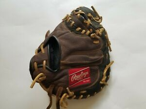 """Brown Rawlings Left Handed Kid's Catcher's Mitt Glove Player Preferred ~ 10.5"""""""