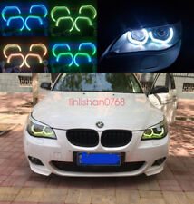 4pcs RGB Angel Eyes DTM STYLE M4 STYLE For BMW 5 Series E60 2002-2010 Headlights