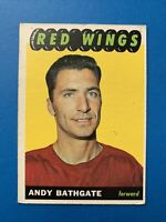 Andy Bathgate 1965-66 Topps Vintage Hockey Card #48 Detroit Red Wings