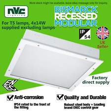 NVC Ceiling fluorescent IP54 rated recessed modular 4x14W T5 lamps Bismarck