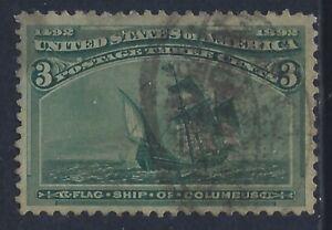 United States, Scott #232, 3c Columbian Exposition, Used