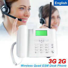 Corded Telephone Call Home Office Landline Speaker Wall Phone SIM Card Caller ID