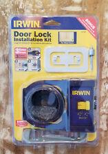 Irwin Door Lock Installation Kit for Wood Doors 3111001 New