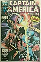 CAPTAIN AMERICA ANNUAL#8 VF/NM 1986 VS WOLVERINE MARVEL COMICS