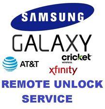 Att Cricket Xfinity Samsung S7, S7edge, S8, S8+, Note 8, 7 Remote Unlock Service