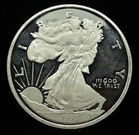 1993 LADY LIBERTY EAGLE PROOF 8 TROY OZ .999 SILVER ROUND