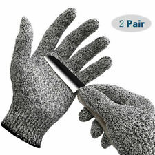 2 Pairs Anti Cutting Gloves Safety Cut Proof Stab Resistant Kitchen Butcher L5