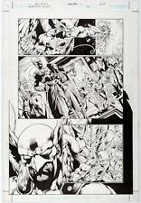 Blackest Night #1 Pg 20 Original Art Ivan Reis & Oclair Albert DC 2009 Hawkman