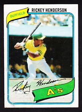 New listing 1980 TOPPS #482 RICKEY HENDERSON A'S ROOKIE