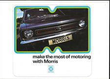 MORRIS MINI 850,1000, CLUBMAN SALOON/ESTATE, 1275GT, MARINA + MORE BROCHURE 1974