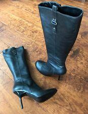 Spaziomoda botas negro de cuero highheel de lujo botas árboi alrededor de 40 como nuevo!