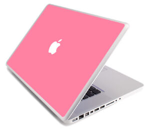 PINK Vinyl Lid Skin Cover Decal fits Apple MacBook Pro 15 A1268 Laptop