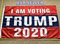 DONALD TRUMP FLAG *!!FREE SHIPPING!!* I AM VOTING TRUMP 3x5""