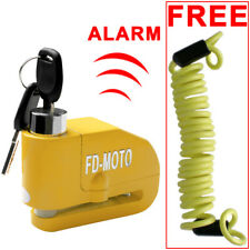 FD-MOTO Alarm Motorbike Disc Lock Brake Scooter Motorcycle Lock Bike Security