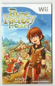 Rune Factory Frontier Nintendo Wii French Instruction Manual Only