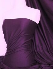 Aubergine Cotton Lycra Jersey Stretch Fabric Q35 AUB