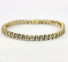 Diamante tenis brazalete 14K oro amarillo S eslabón 44 redondo brillantes 2,20CT