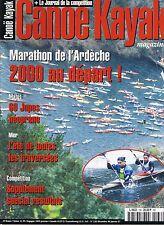 Canoé Kayak Magazine n° 136 1997 * Dans Le Yukon jupes néoprènes Marseille Calvi