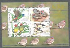 Australia Finches 2018-Canberra Stamp Show mnh  sheet -Birds-