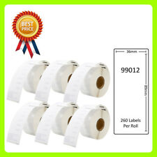 6 Rolls 99012 Labels Compatible for Dymo/Seiko 36 x 89mm 260 labels per roll