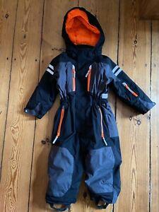 H&M Toller Skianzug Schneeanzug schwarz grau orange Gr.98 w.NEU!