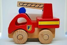 Large & Solid Build GROW PLAY WOODEN FIRE ENGINE Truck with 360* LADDER