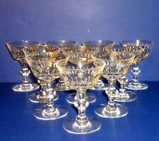 "10 Vintage Hawkes RAMSEY 7334 Champagne / 5"" Tall Sherbet Crystal Glasses"