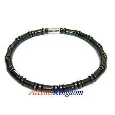 "Magnetic Hematite Cylindrical Beads Bracelet / Anklet 10"" [amh001]"