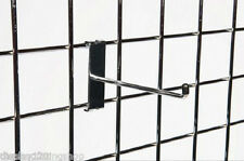 "100 x 6"" Single Prong Gridwall 153mm Long Mesh Display Panel Shopfitting Hook"