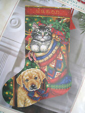 Dimensions Christmas Needlepoint Stocking Craft Kit,HOLIDAY PET,9132,Race,16""