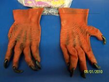 Red Monster Hands Devil Adult Latex Halloween Costume Accessory