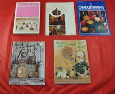 Lot of 5 Vintage Craft Books Candlemaking & Carving With Country Flair   X5O17