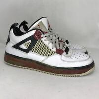 Nike Mens Air Jordan Flight 364342-161 White Black Leather Athletic Shoes Sz 12