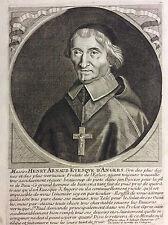 Portrait de Henri Arnauld (1597-1692), évêque d'Angers  gravé par Jollain XVIIe