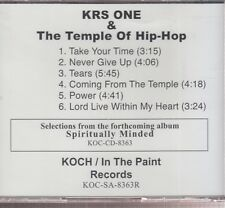 krs one & the temple of hip-hop cd promo