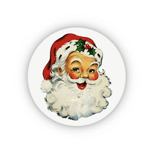 Pack of 24 paper labels, Vintage Father Christmas Adhesive stickers, Retro Santa