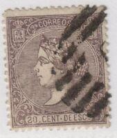Spain,Edifil#85a,20c,used,E=38 euros
