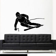 Wall Vinyl Sticker Bedroom Sport Snow Ski Skiing Skier (Z2626)