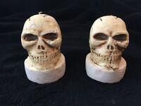 Lot de deux Bougies Tête de Mort DécorationHalloween