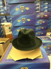 SELENTINO GALAXY 100% GENUINE VELOUR FUR FELT FEDORA GRAY HAT 7 3/8
